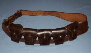 South African Police Union Defence Force 5 Pouch 303 Leather Bandolier