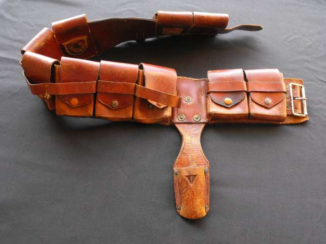 World War I German South West Africa Kaizer Schutztrappe Leather Bandolier