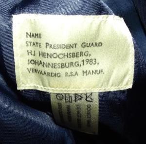 1983 South African Cape Town Castle Guard Uniform 2