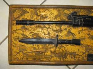 1984 South African Police Maleoskop Training Centre R1 Rifle Resin Wood Plaque 1