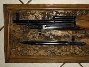 Simonov SKS Rifle Acrylic Wood Plaque 1