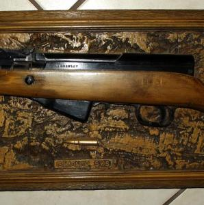 Simonov SKS Rifle Acrylic Wood Plaque