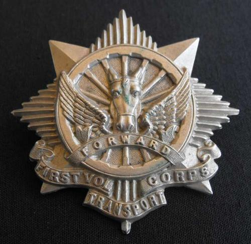 South African First Volunteer Transport Corps (Transvaal) Metal Cap Badge