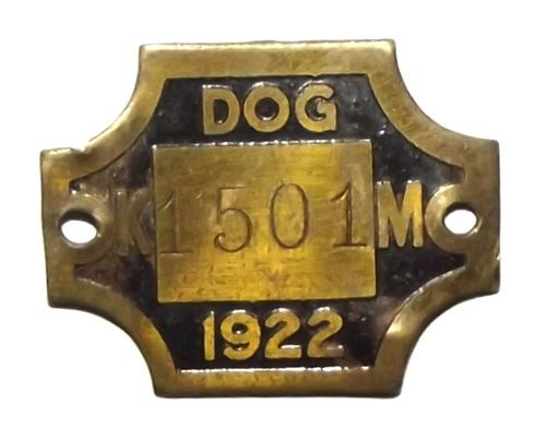 1922 Krugersdorp Municipality Metal Dog License Disc