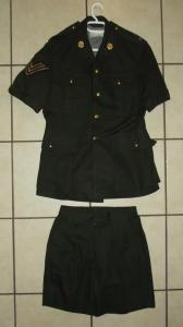 1975 South African Railway Police Green Summer Safari Suit Uniform