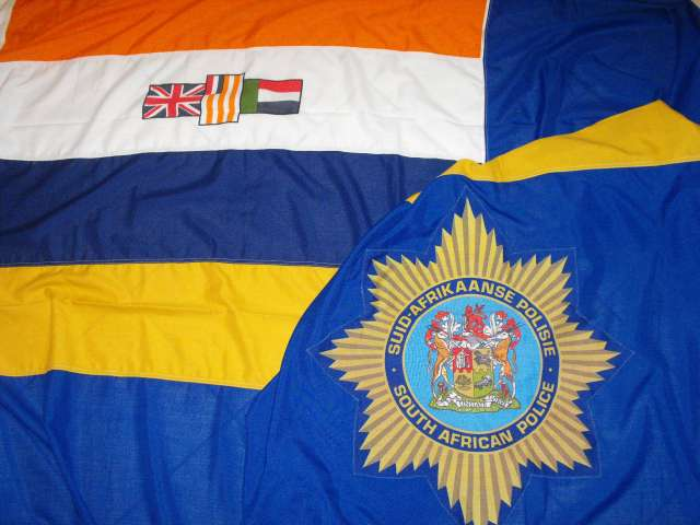 1984 South African Police Large Ceremonial Flag