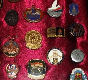 Framed Collection of South African Badges and Medals 1