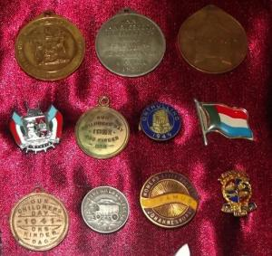 Framed Collection of South African Badges and Medals 2