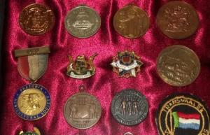 Framed Collection of South African Badges and Medals 3