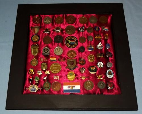 Framed Collection of South African Badges and Medals 4