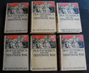 Set of South Africa and the Transvaal War 1900 - 1902 Boer War Books by Louis Creswicke 1