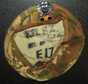 South Africa SADF 32 Battalion Camo Beret With Badge and Bar 1