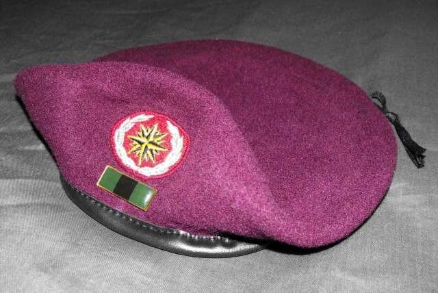 South Africa SADF Recce Commando Beret and Insignia