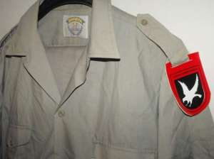 South African AWB Khaki Uniform With Shoulder Flashes 1
