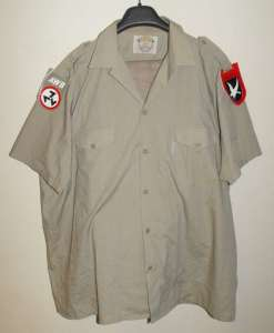 South African AWB Khaki Uniform With Shoulder Flashes