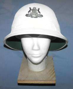 South African Railways Police White Ceremonial Helmet