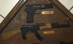 South African Terrorist Weapons Synthetic Wood Plaque 1