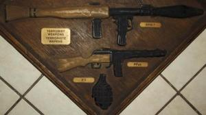 South African Terrorist Weapons Synthetic Wood Plaque 2