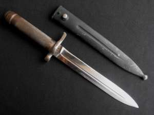 Swedish Mauser Pattern 1896 Bayonet With Metal Scabbard