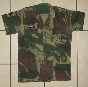 Rhodesia Air Force Camo Short Sleeve Shirt