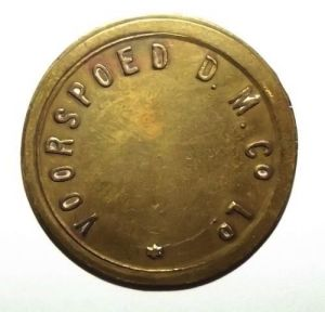 South African Voorspoed Diamond Mine Company Brass Trade Token