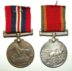 WW2 South African War and Africa Service Full Size Medal Pair