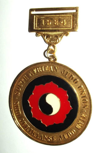 1984 South African Judo Union Bilingual Medal
