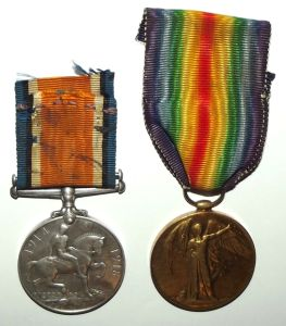 WW1 South African Bilingual Dutch Victory Medal Pair 2