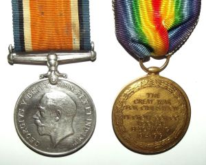 WW1 South African Bilingual Dutch Victory Medal Pair