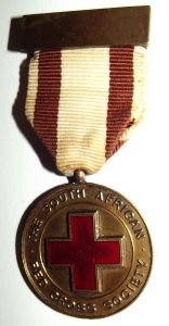 1961 South African Red Cross Underground District Competition Lapel Pin Medal