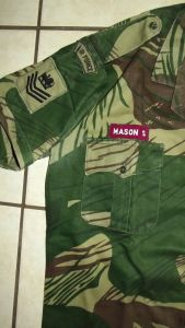Rhodesia Air Force Camo Short Sleeve Shirt and Insignia 2