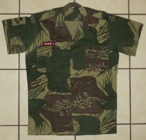 Rhodesia Air Force Camo Short Sleeve Shirt and Insignia