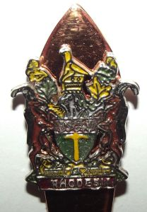 Rhodesia Coat of Arms Copper Crested Spoon