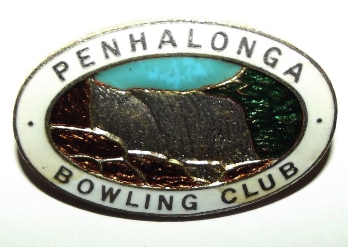 Rhodesia Penhalonga Bowling Club Made in England Lapel Pin Badge