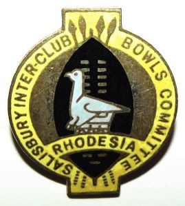 Rhodesia Salisbury Inter Club Bowls Committee Lapel Pin Badge