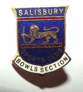 Rhodesia Salisbury Sports Club Bowls Section Metal Lapel Pin Badge