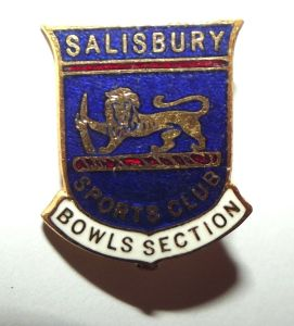 Rhodesia Salisbury Sports Club Bowls Section Metal Lapel Pin Badge