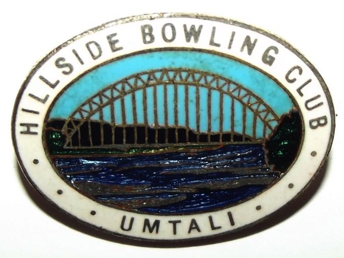 Rhodesia Umtali Hillside Bowling Club Made in England Lapel Pin Badge