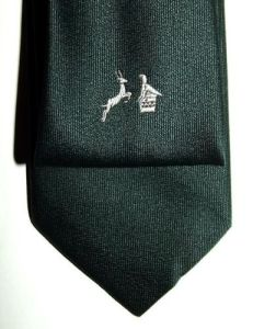 South Africa vs Rhodesia Green Rugby Tie