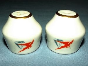 South African Airways Diamond Flying Springbok Salt & Pepper Shaker Set
