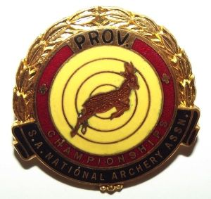 South African National Archery Association Provincial Championship Pin Badge