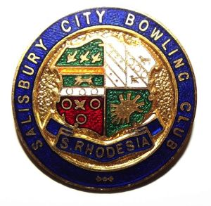 Southern Rhodesia Salisbury City Bowling Club Metal Lapel Pin Badge
