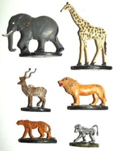 1960's South African Coca Cola Wildlife Coke Figurines