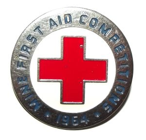 1964 South African Red Cross Mines First Aid Competition Lapel Pin Badge
