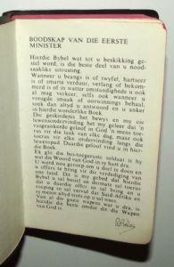 1982 South Africa SADF Chaplain Service Afrikaans Language Pocket Bible 2