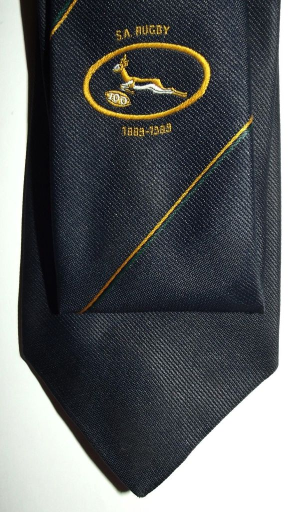 1989 South African Springbok Rugby 100th Anniversary Tie