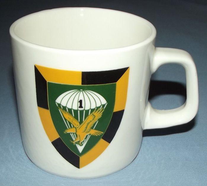 South Africa SADF 1 Parachute Battalion Insignia Mug