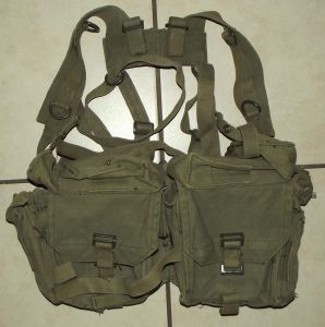 South Africa SADF Army Border War Webbing Kidney Pouch Pack and Harness 2