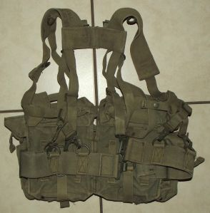 South Africa SADF Army Border War Webbing Kidney Pouch Pack and Harness
