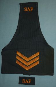 South African Police Apartheid Era Blue Brassard Rank and Shoulder Title